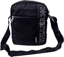 """Killer Men Entizo Traveler Sling Bag For 10"""" Ipad/Tablet Shoulder Side Sling Bag,Black"""