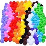 Craft Pompons pour Fabrication Artisanale et Fournitures de Passe-Temps, 0.9 Pouce, 200 Pièces, Couleurs Assorties