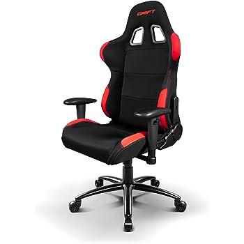 drift dr100 stuhl f r gaming leinwand schwarz rot 48 x 61 5 x 129 cm k che haushalt. Black Bedroom Furniture Sets. Home Design Ideas