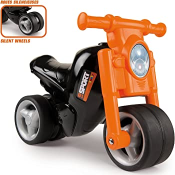 b9934b5e162d Smoby - 770120 - Porteur Moto - Roues Silencieuses - Orange  Amazon ...