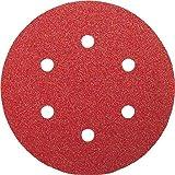 Bosch 2609256A30 Feuilles abrasives pour Ponceuses excentriques Diamètre 150 mm 6 trous Grain 60 Lot de 5 feuilles