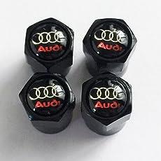 AUD schwarz schwarz glänzend logo Staub Ventilkappen. A3A4A5A6TT RS quattro Q3Q5Q7, Avant Turbo Allroad E-Tron A8RS4R8RS6RS8A1Q2