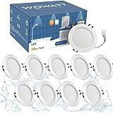 Wowatt 10×12W LED Spot Encastrable Salle de Bain IP44, Spot Encastré Extra Plat 690lm Projecteur Encastrable Spot 6000k Blanc