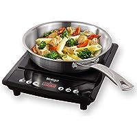 Venga! VG IKP 3000 Plaque à induction portable à 1 zone de cuisson, avec contrôle numérique et fonction minuterie, 2 000…