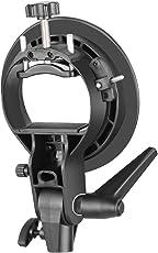 Neewer S-Type Haltewinkel-Halter mit Bowens Halterung für Speedlite-Blitzvorsatz Softbox Beauty Dish Reflexschirm