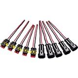 moinkerin 5 Pezzi Connettori Elettrici Impermeabili per Auto a 2 Pin Spina Maschio e Femmina IP67 Cablati Calibro AWG…