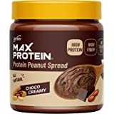 RiteBite Max Protein Peanut Spread - Choco Creamy Peanut Butter (340 g) - High Protein | High Fiber | Gluten Free | Vegan | N