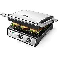 Aigostar Max 30 HIX - Grill, appareil à paninis et sandwichs avec plaques amovibles de grande taille (29 x 24cm). 2000W…