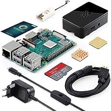 ABOX Raspberry Pi 3 Modell B Plus (B +) Ultimatives Starterkit mit 32GB Class 10 SanDisk Micro SD Karte, 2,5A EIN/aus-Schaltnetzteil und Premium Black