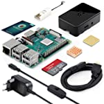ABOX Raspberry Pi 3 Modell B Plus Ultimatives Starterkit mit 32GB Class 10 SanDisk Micro SD Karte, 2,5A EIN...