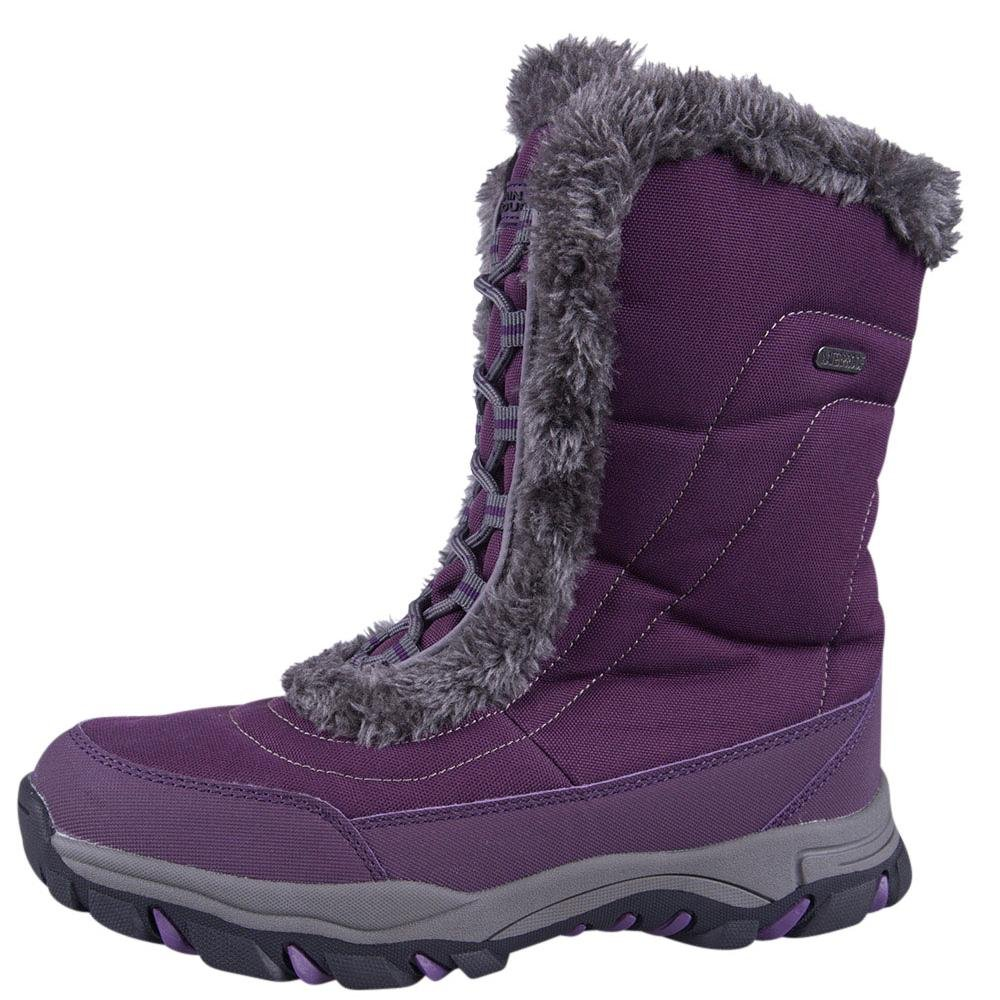 671d2d82b8e Mountain Warehouse Ohio Womens Snow Boots - Waterproof Ladies Winter Shoes,  Textile Upper, Durable & Breathable Isotherm Lining & Rubber Outsole - for  ...