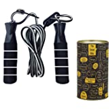 The Dance Bible Adjustable Jumping Skipping Rope for Gym, Exercise, Home Fitness Core Workout (ADJ)