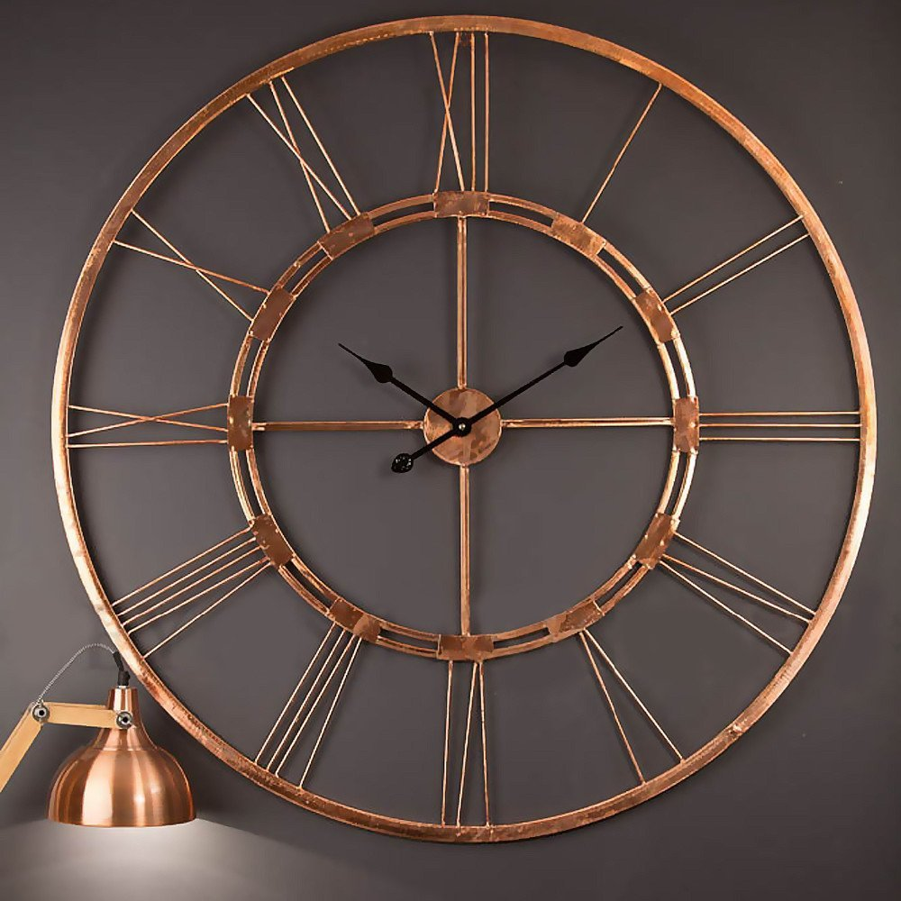 Buy handmade large copper color wall clock metal wall art buy handmade large copper color wall clock metal wall art sculpture wall decor and hanging 75 x 75 cm online at low prices in india amazon amipublicfo Image collections