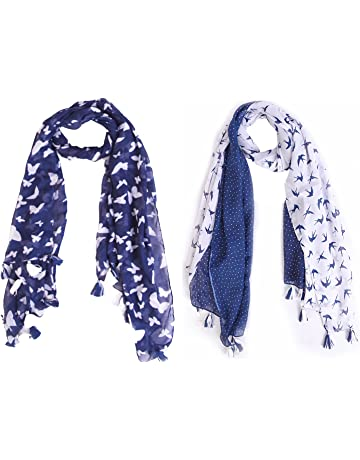 a8c3d7f7e Raiter by Ziva Fashion Printed Poly Cotton Women's Scarf, Stole (pack of ...