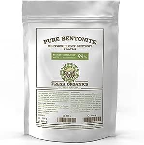 PURE BENTONIT 1000g   Premium Qualität 94% Montmorillonit   Extra Feine Tonerde
