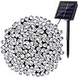 Luci Stringa Solari, BrizLabs 22M 200 LED Luci Natale Esterno Solare Impermeabile 8 Modalità Luci Natalizie da Esterni Decora