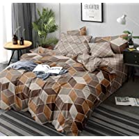 Magnetic Shadow Glace Cotton 160 TC Quilt Cover (Double_Brown)