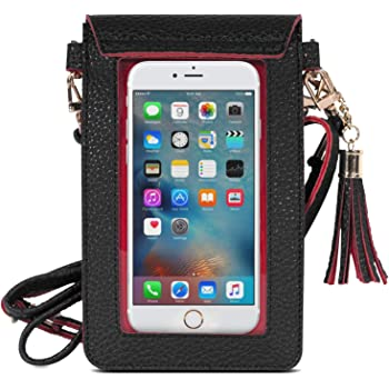 sac à main bandoulière pour téléphone portable cuir PU bourse pochette épaule: Amazon.fr: High-tech