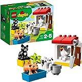 LEGO DUPLO AnimalidellaFattoria, Set Educativo di Mattoncini da Costruzione conGatto Nero,Giocattoli per Bambini dai 2 ai