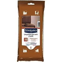 STARWAX Lingettes de Soin pour Cuir - Sachet de 18 - Idéales pour Nettoyer les Surfaces en Cuir