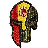 Ohrong España bandera nacional Espana parche bordado espartano táctico moral parche insignia brazalete apliques con gancho y