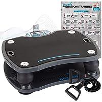 skandika Vibrationsplatte 500 3D Vibration | große rutschsichere Fläche | 4 Programme + 20 Stufen | Fitness Von Zuhause…