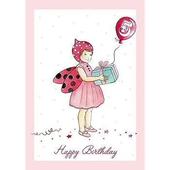 Happy Birthday Süße Kindergeburtstagskarte Für Mädchen Mit