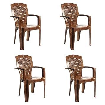 Cello Aristo Set Of 4 Chairs (Sandalwood Brown)