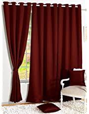 Story@Home Room Darkening Thermal Insulated Eyelet Noice Reducing Blackout Curtains for Bedroom