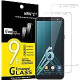 NEW'C 2 Pezzi, Vetro Temperato Compatibile con Samsung Galaxy A6 (SM-A600F), Pellicola Prottetiva Anti Graffio, Anti-Impronte