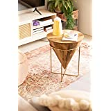 Priti Golden Chronicle Wooden Coffee Table -Side Table -End Table