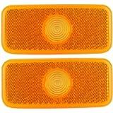 KIMISS 1 Pair of Plastic Car Side Marker Lamp Lens Light Cover for TRANSIT MK6/MK7 1671689 VYC15-5034-AC VYC155034AC