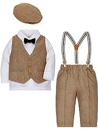 ZOEREA Bébé Garçons Ensemble de Tenue Page Boy Costumes 4 pièces Gilet +  Chemise + Pantalon d38532acd90