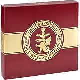 Lindt Spirituosen-Schokoladen-Geschenkbox, dunkelrote Geschenkverpackung mit goldener Lindt-Siegel-Prägung, bestückt mit einer feinen Auswahl an Lindt Chocoladen, gefüllt mit edelstem Alkohol, 830g