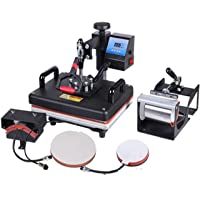 JD9 Heat Press 5 in 1 Digital Multi Functional Sublimation, Vinyl Printing Machine for T-Shirts (Any Flat Product), Mug…