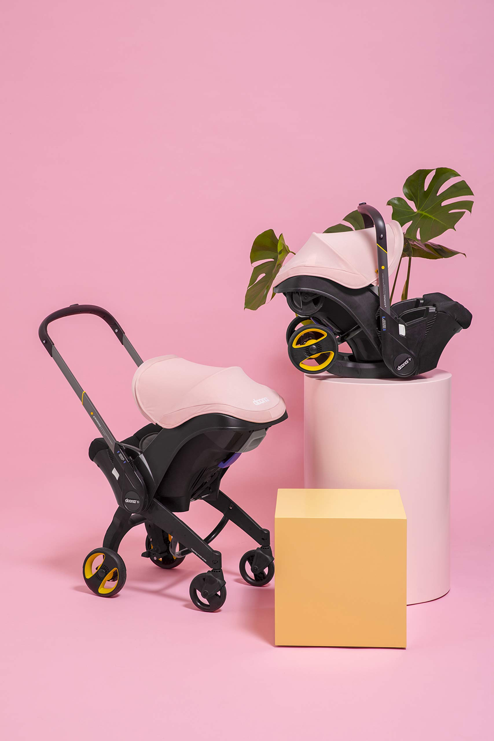 Doona Car Seat and Pram, Blush Pink, Revolutionary 0+ Car Seat that Folds Between Car Seat & Pram in Seconds, ISOFIX Base Available. Car Seat H60cm x W44cm, Pram H99cm x 82cm. Perfect for Travelling Doona  6