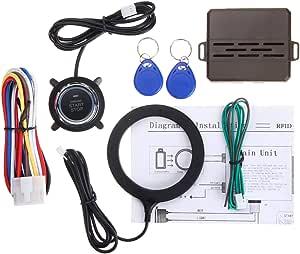 Vorcool 12 V Rfid Lock Ignition Car Keyless Entry Push Starter Remote Start System Kit Auto