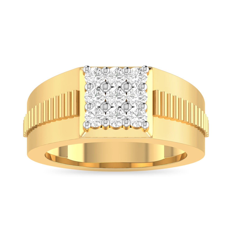 PC Jeweller The Ishrant 18KT Yellow Gold & Diamond Rings