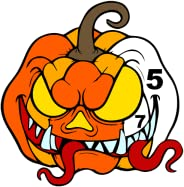 Halloween Color by Number Book - Kids Paint + Glitter + Crayon + Oil Paint Coloring Pages