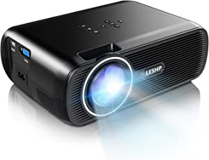 Projector LESHP 3200 Lumens Video Projector Home Projector with 5.0 Inch LCD TFT Display Free HDMI Support 1080P HD for Home Cinema Theater TV Laptop Game SD iPad iPhone Android Smartphone White 1300 Lumens-Black