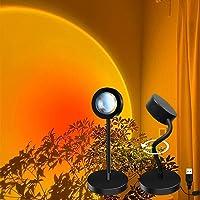 Sunset Lamp, Sunset Projecteur Lampe LED Pliable 360 Degrés Rotation USB Romantique Lumière Sunset Lampe pour Chambre…
