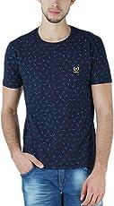 VIMAL Men's Cotton Printed Round Neck T-Shirt