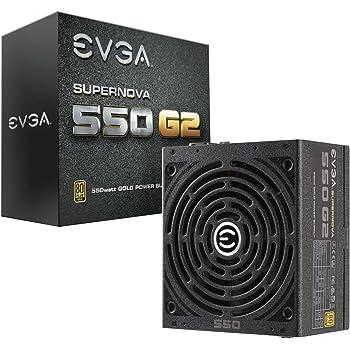 EVGA Supernova 550 G2, 80+ Gold 550W, Voll Modular, EVGA Eco Mode, 7 Jahre Garantie, Inklusive Power on Self Tester, Netzteil 220-G2-0550-Y2