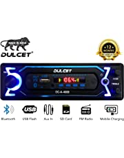 Dulcet DC-A-4009 Double IC High Power Universal Fit Mp3 Car Stereo with Bluetooth/USB/FM/AUX/MMC/Remote & Built-in Equalizer with Bass & Treble Control [Also, Includes a Free 3.5mm Aux Cable]