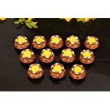 Collectible India 12 Diwali Diya Colorful Handmade Earthen Clay Handpainted Diyas for Diwali Pooja Festival Decoration…