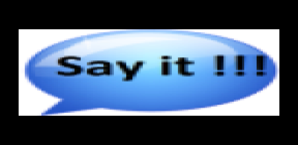Zoom IMG-1 say it