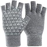 Guanti invernali senza dita unisex Donna Uomo Guanti in maglia da lavoro a mezzo dito Artrite da compressione elastica Comodo