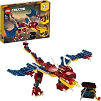 LEGO 31102 Creator 3in1 Fire Dragon - Tiger - Scorpion Building Set, Real and Mythical Creatures Toy