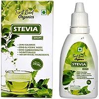 First Bud organics Stevia Drops Liquid - 20 ml | 400 servings | Keto Diet | Zero Glycemic Index