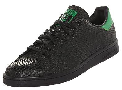 Basket Adidas Stan Smith Noir Croco et Vert: : Chaussures et Sacs
